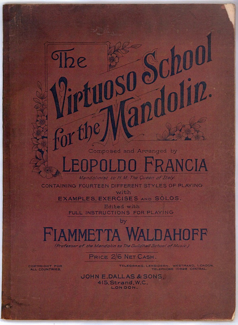 Leopoldo Francia Virtuoso Scholl for the Mandolin