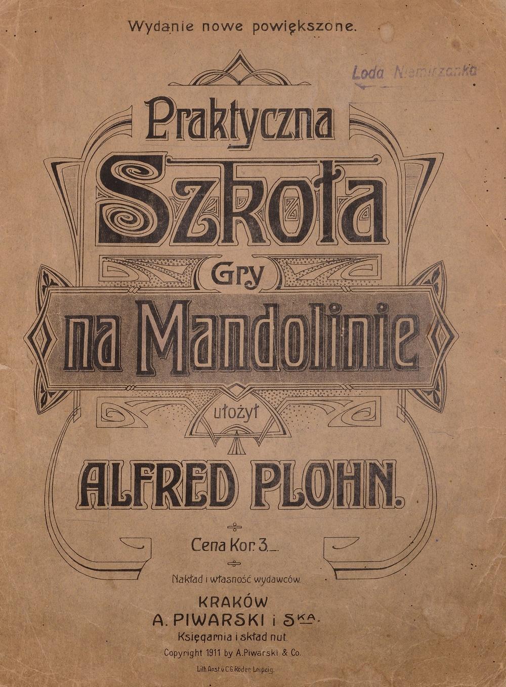 Mandolinenschule Alfred Plohn (1905/1911)