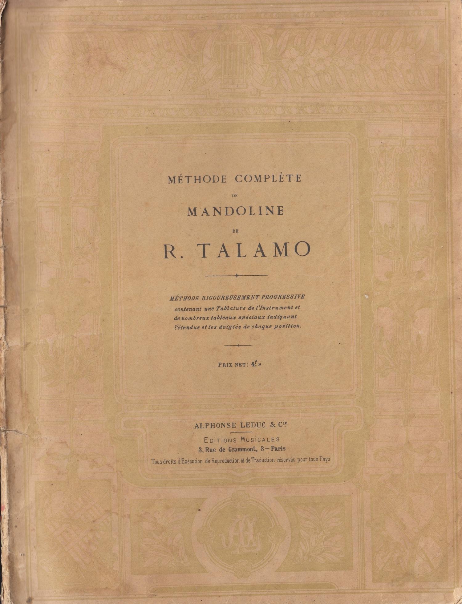 Mandolinenschule Raphael Talamo (1907)