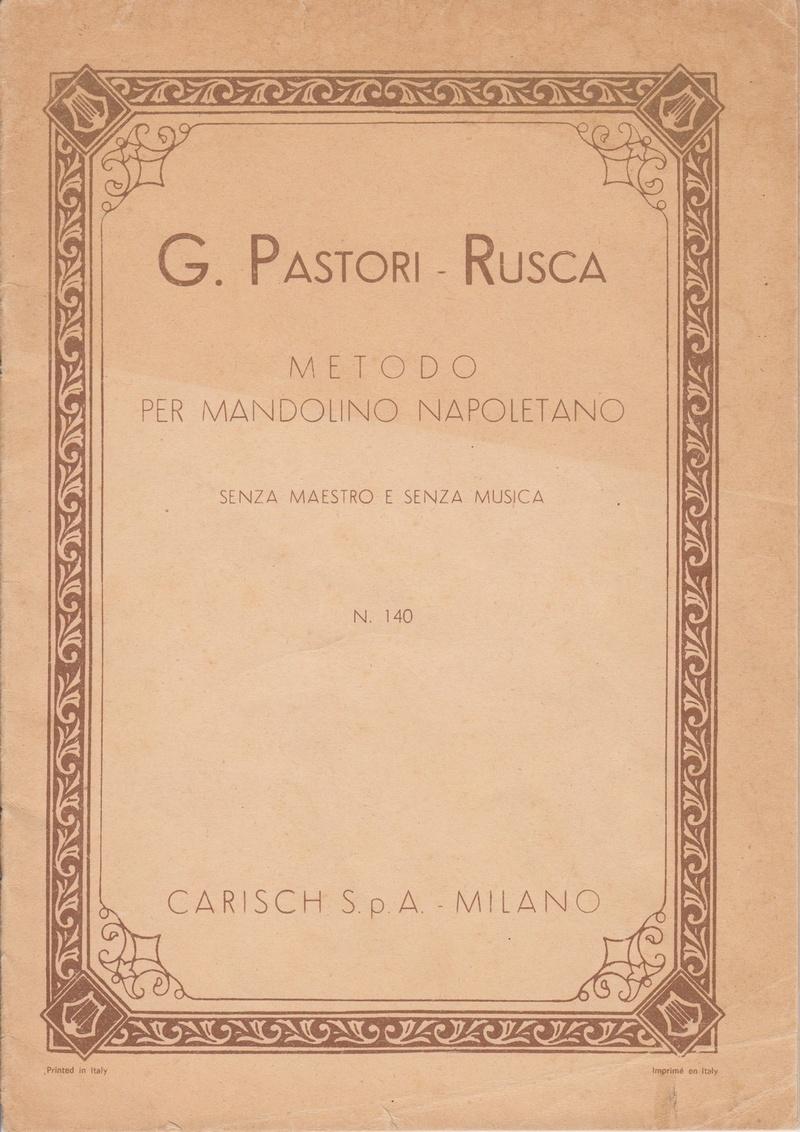Mandolinenschule Giuseppe Pastori-Rusca (ca. 1899)