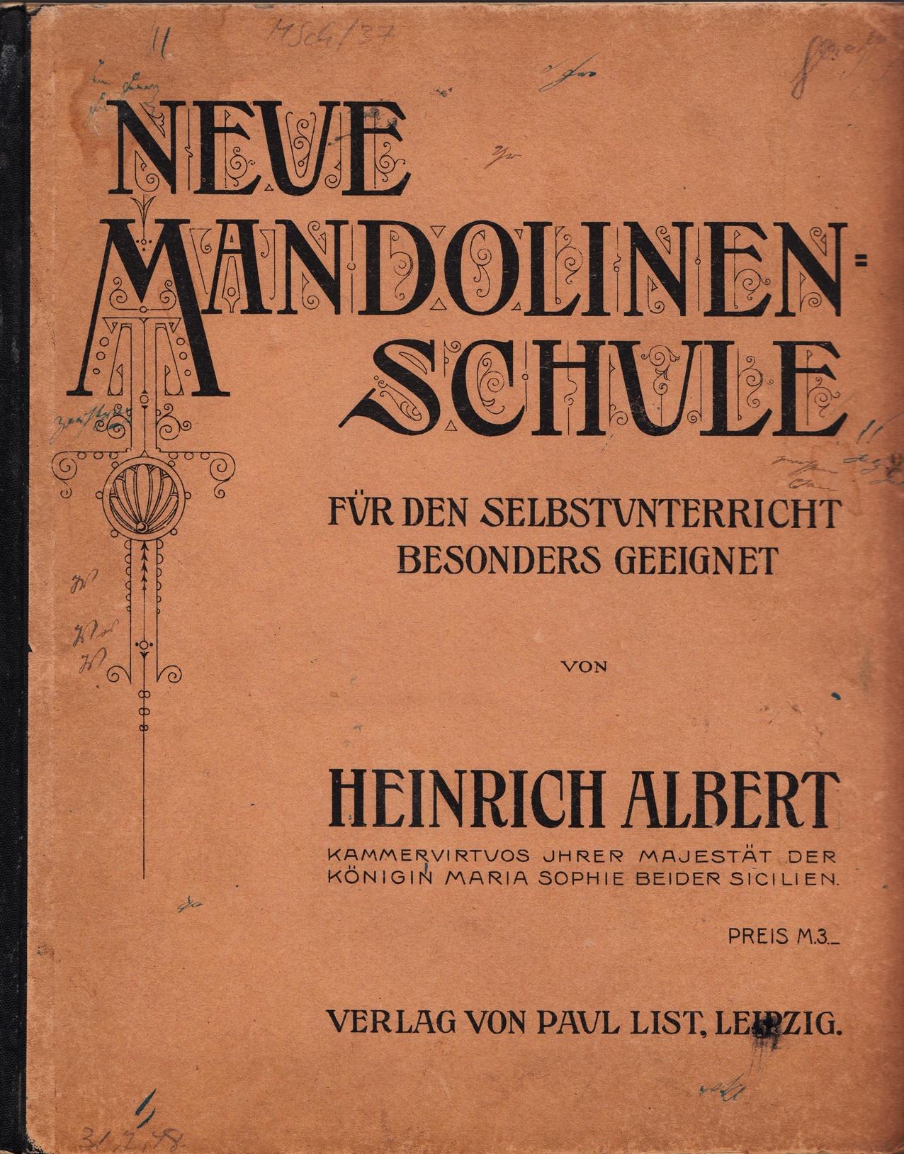 Neue Mandolinenschule Heinrich Albert