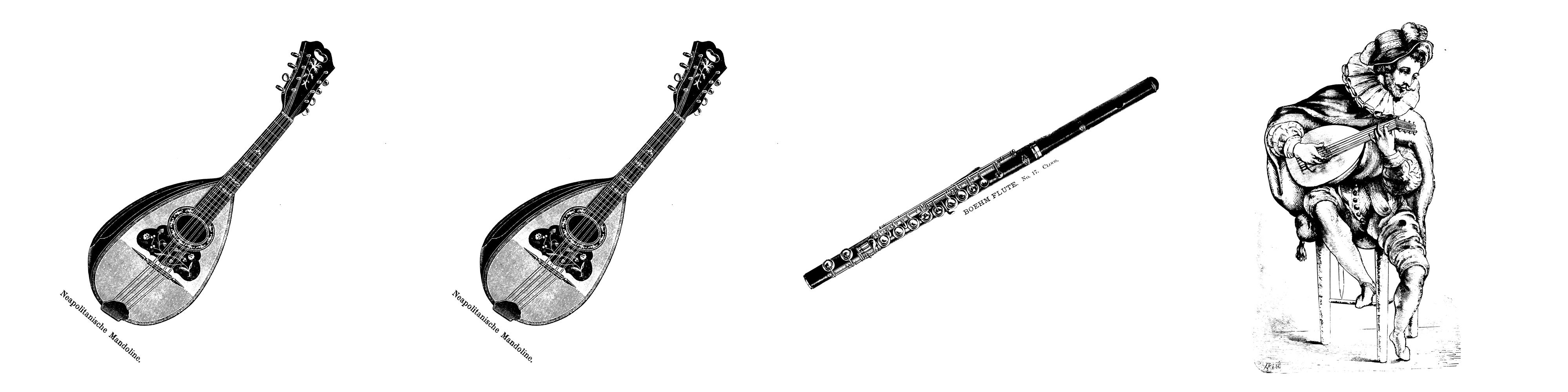 Mandoline Mandoline Querflöte Laute