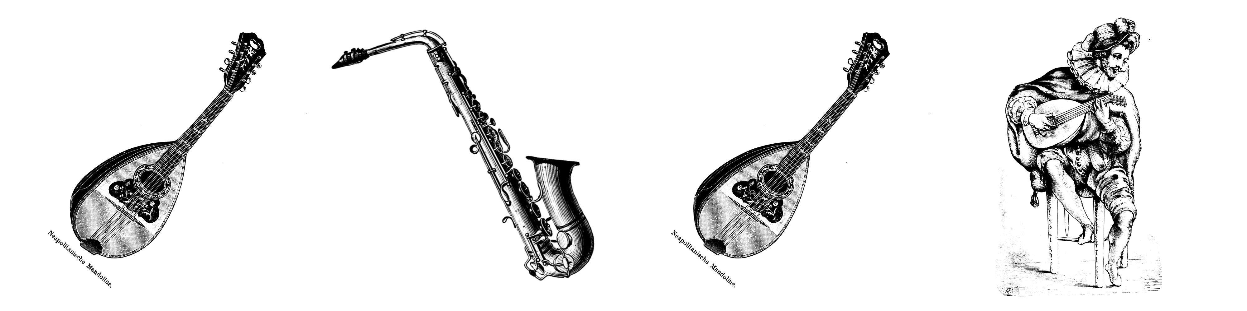 Mandoline Saxophon Mandoline Laute