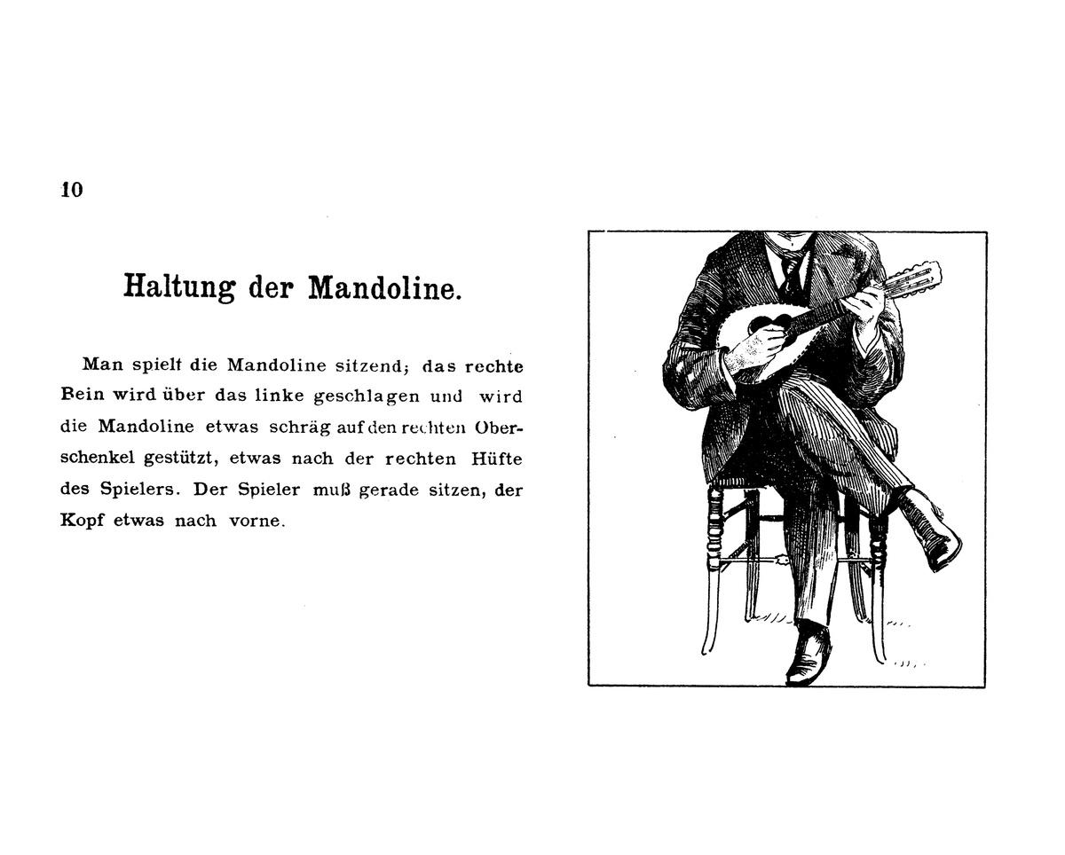 Haltung der Mandoline Alberto Bracony