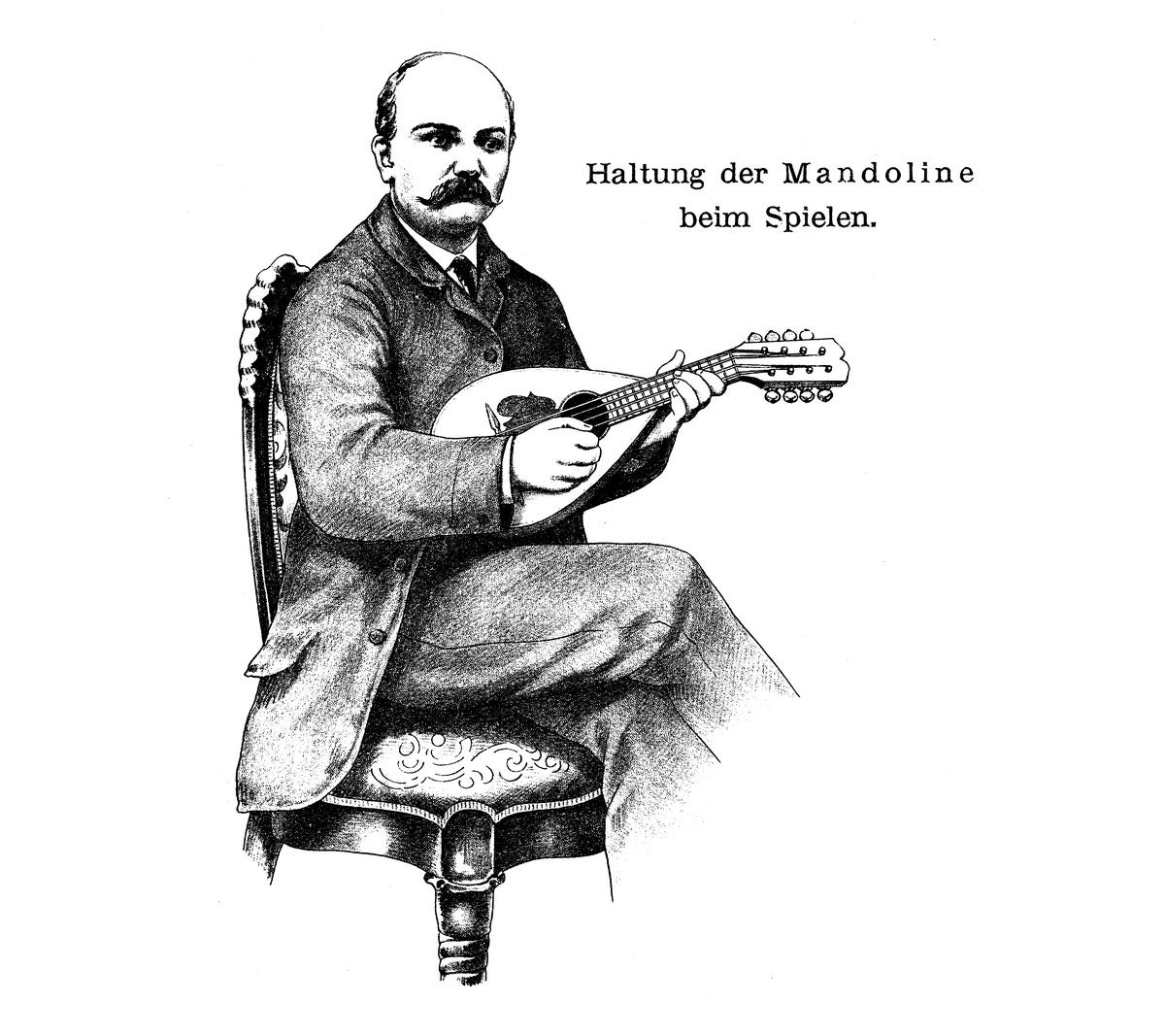 Haltung der Mandoline Branzoli