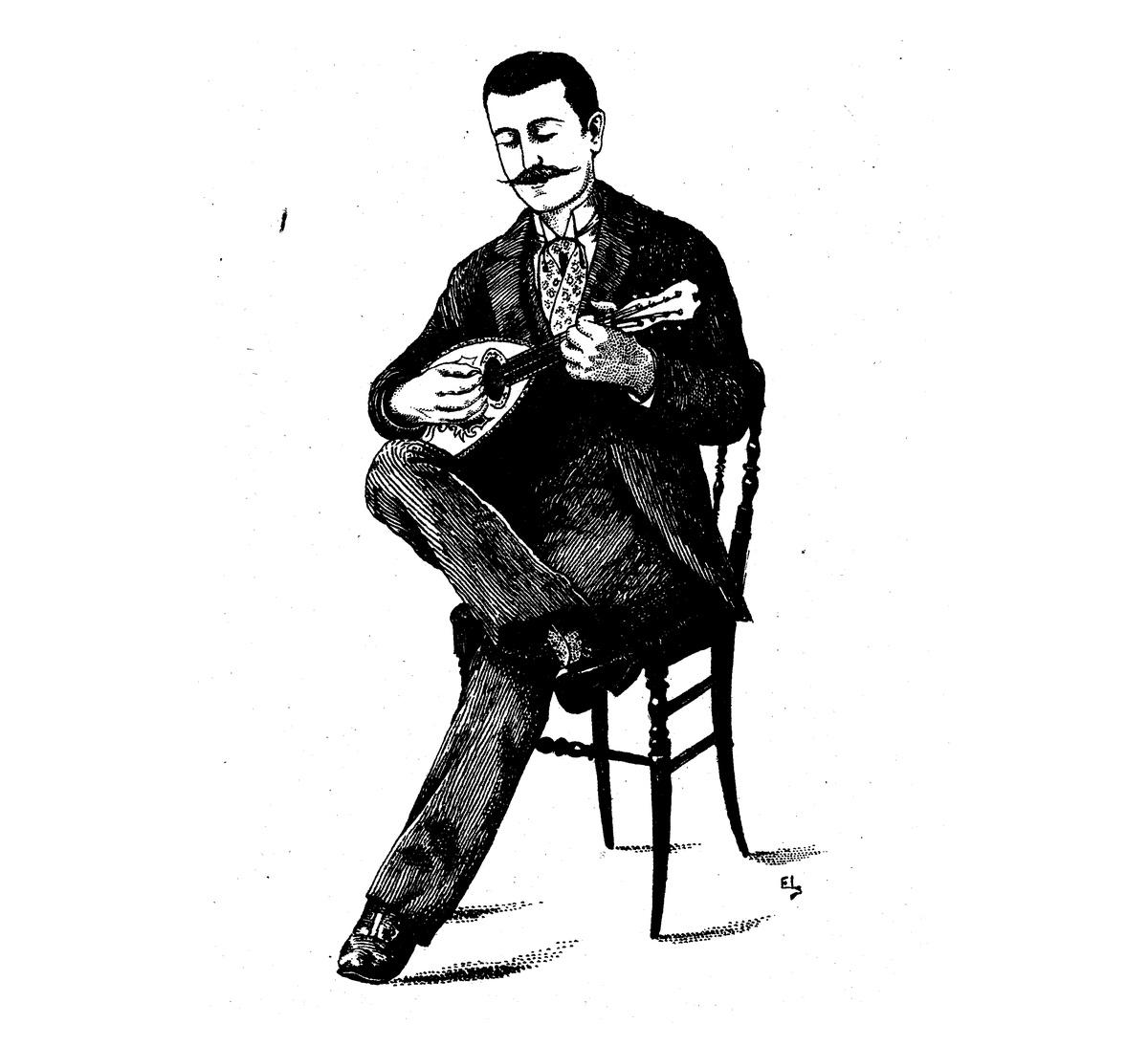Haltung der Mandoline Jules Cottin