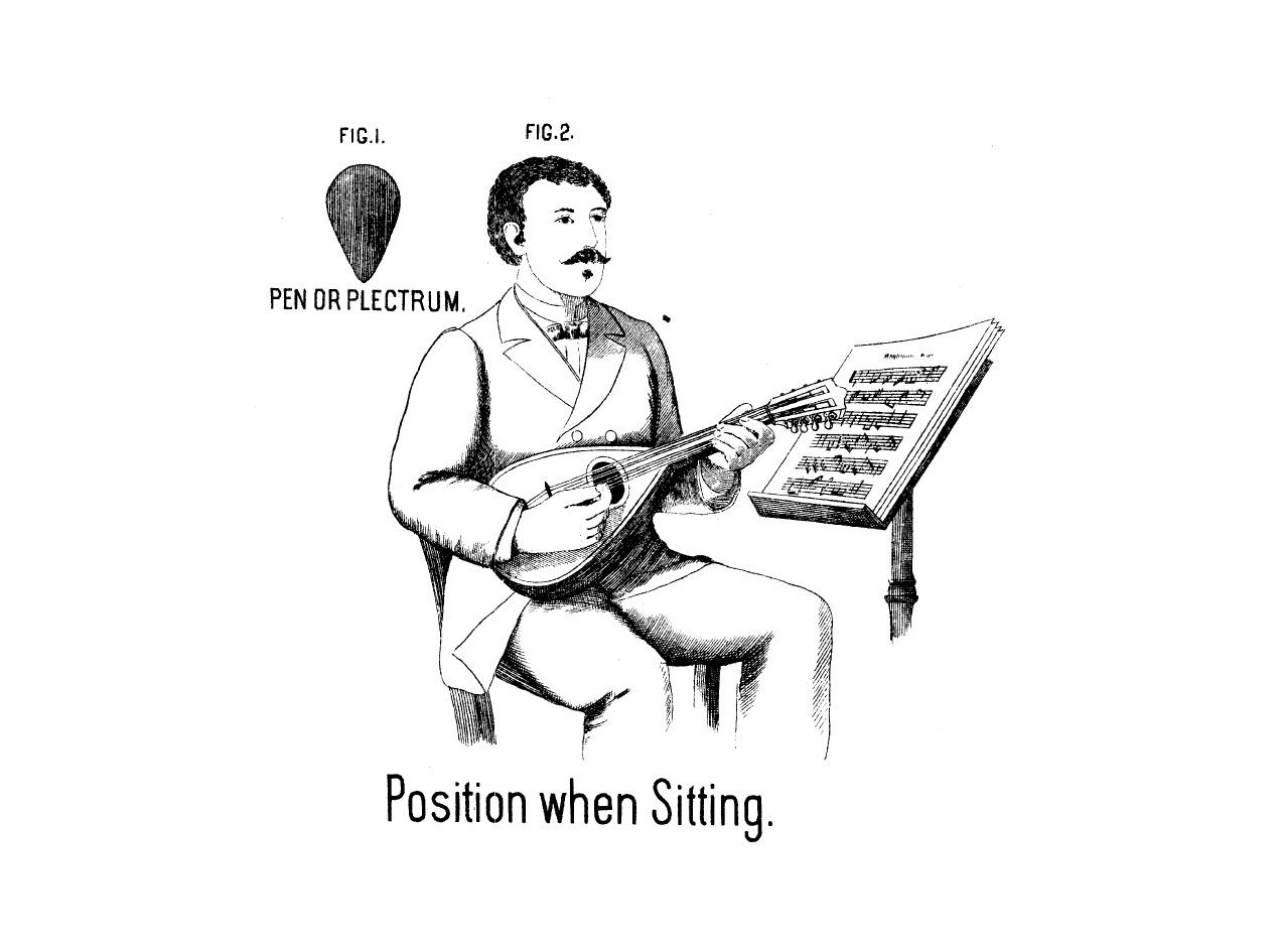 Haltung der Mandoline Fischer
