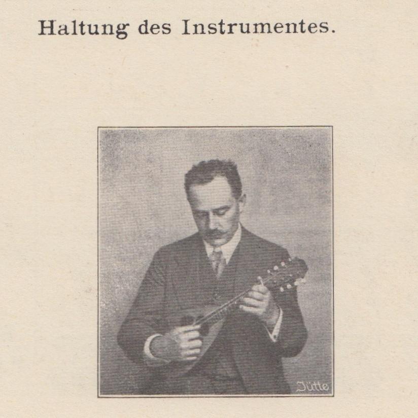 Haltung der Mandoline Heinrich Albert