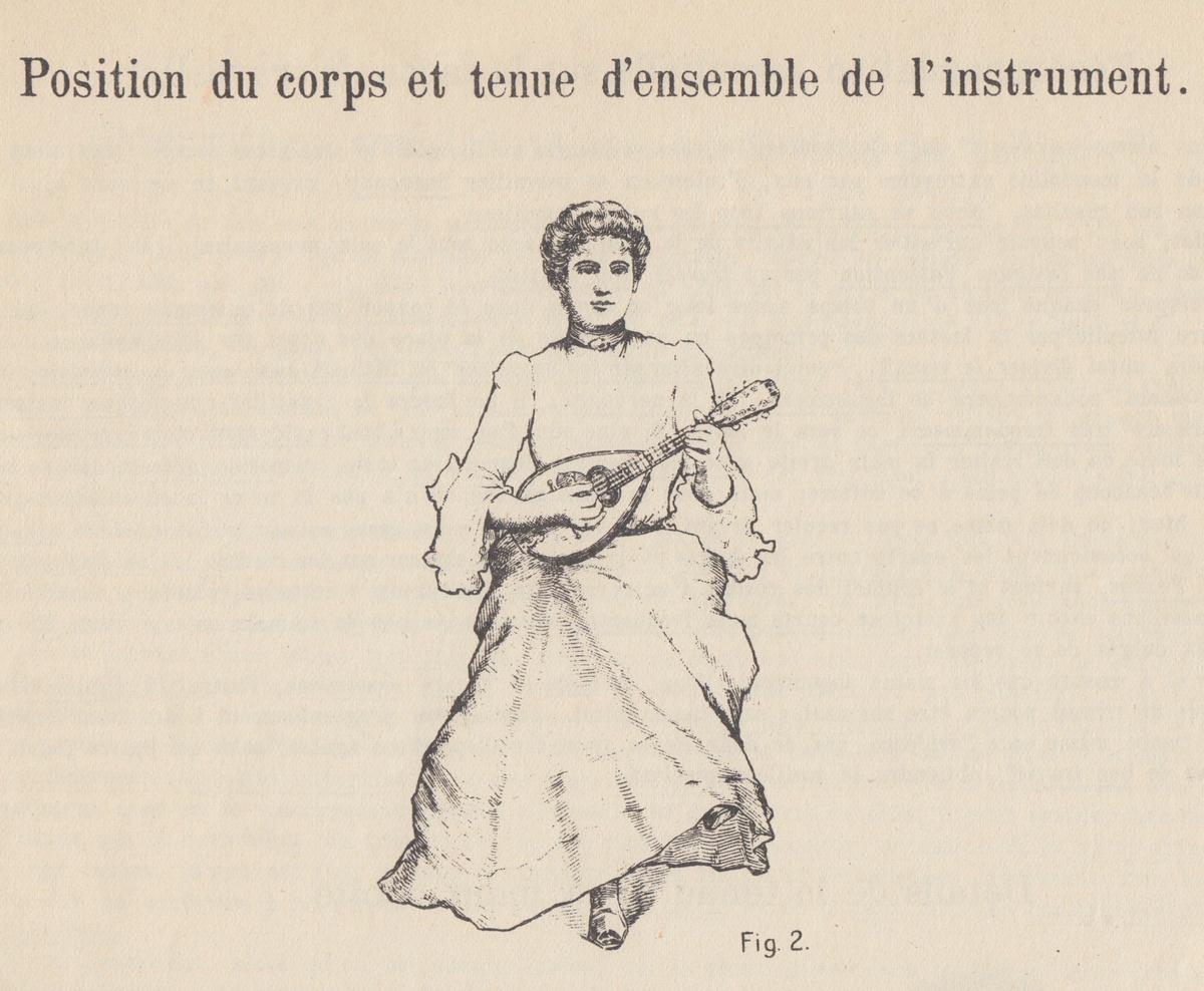 Haltung der Mandoline Madeleine Cottin