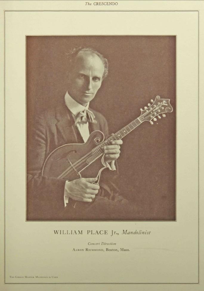 William Place jr. Portrait mit Gibson Mandoline