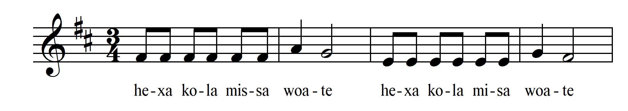 Atte Katte Nuwa - Mit Rhythmuswörtern