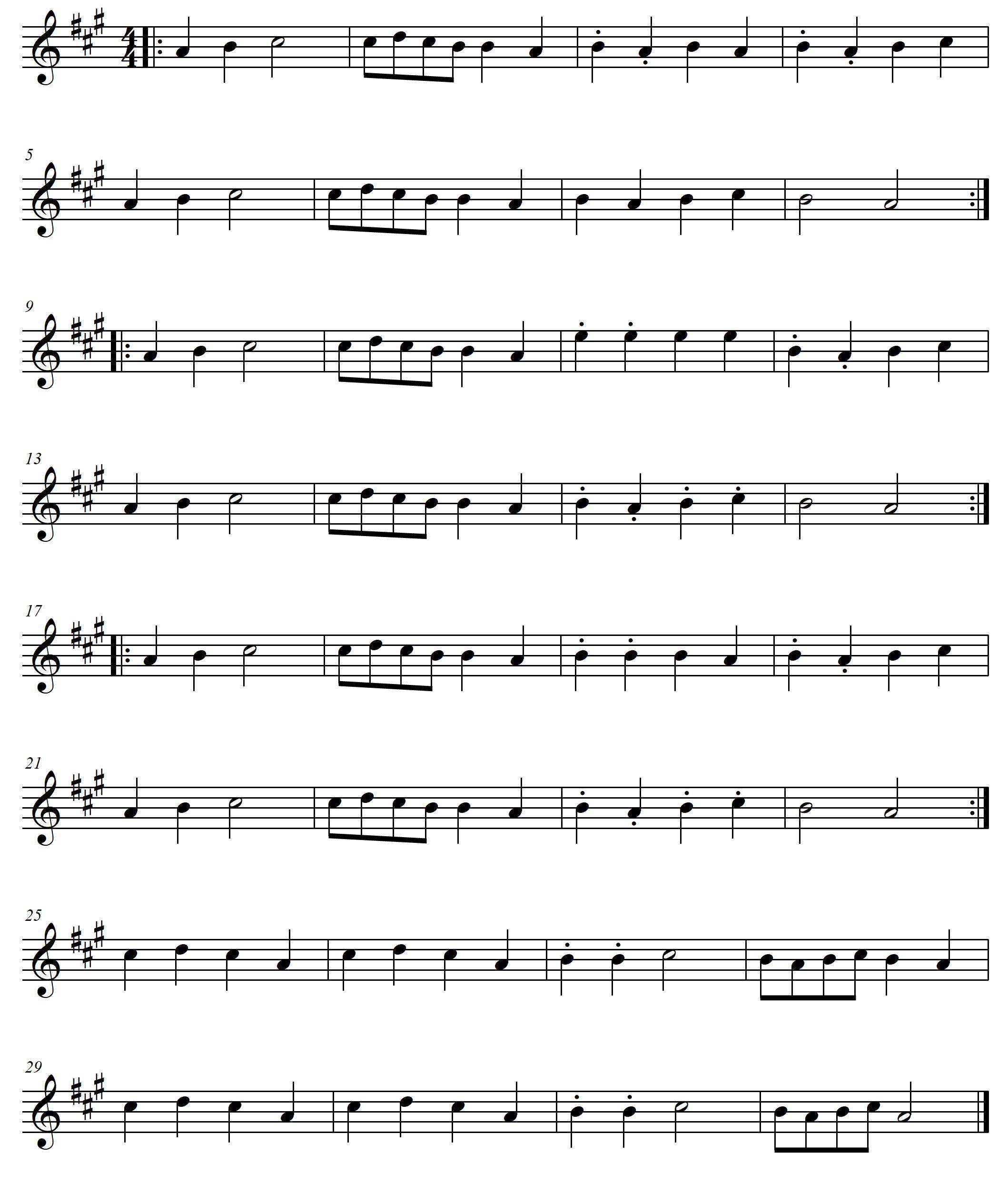 Mandoline lernen - Töne auf der A-Saite - Tekeli