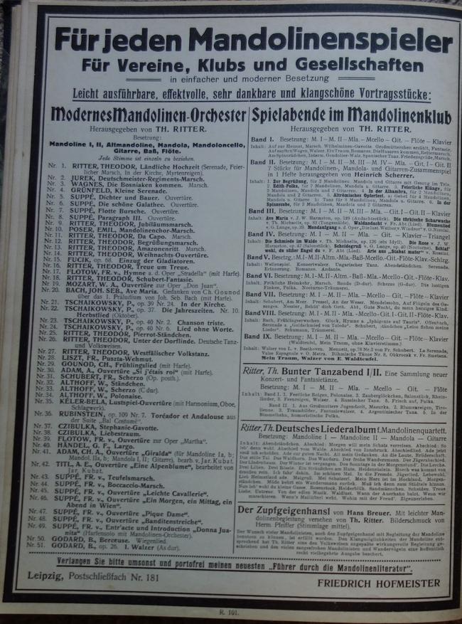 Theodor Ritter Neue Mandolinenschule Für jeden Mandolinenspieler