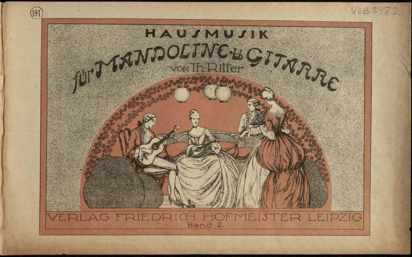 Hausmusik für Mandoline und Gitarre - Band 2 Theodor Ritter
