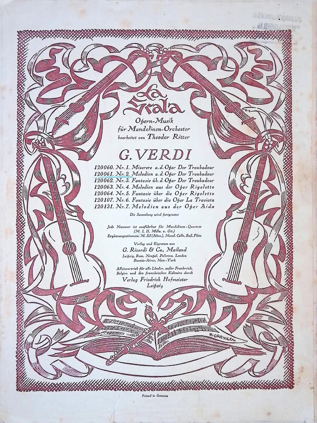 Theodor Ritter G. Verdi Berabeitungen