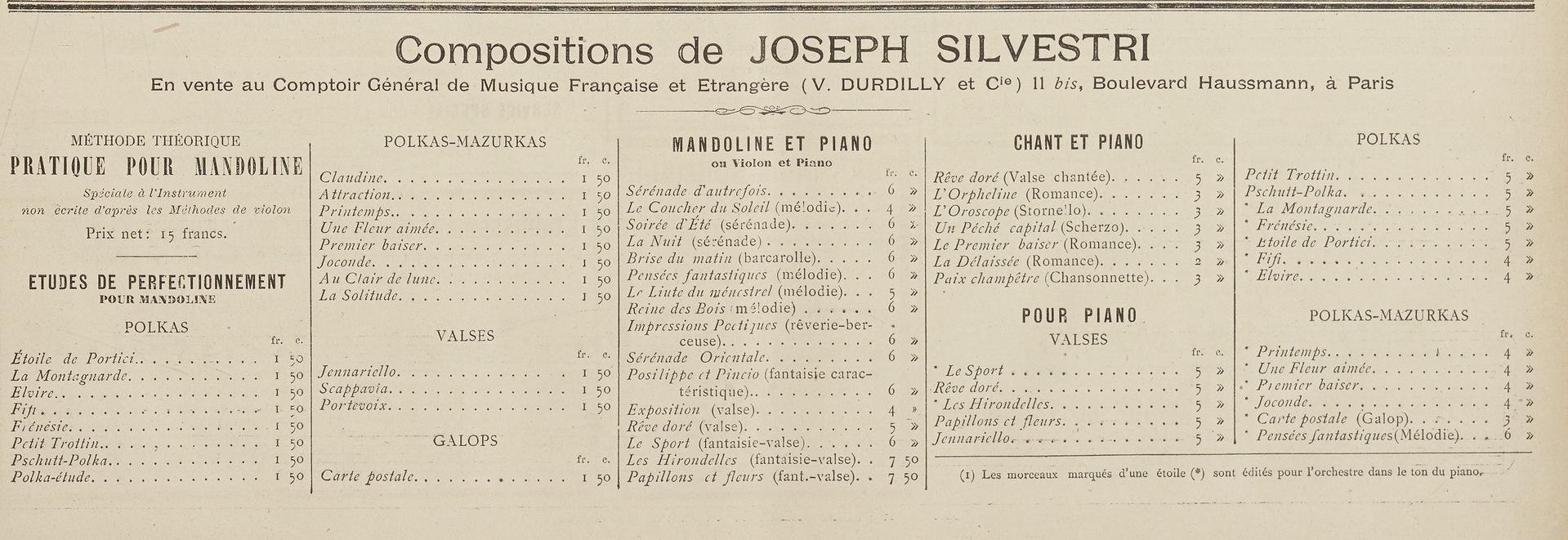 Kompositionen von J. Silvestri