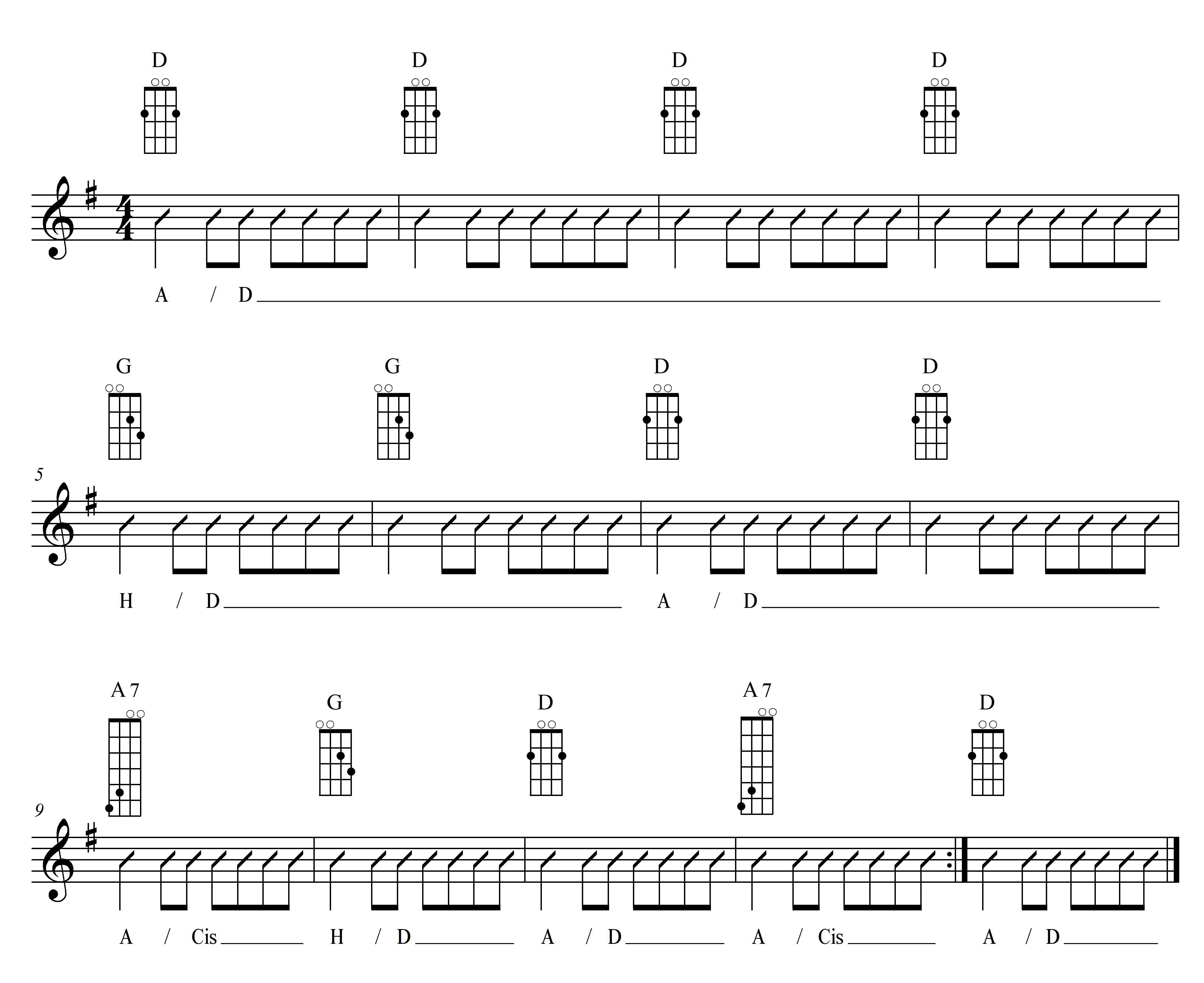 Mandoline lernen - Akkordtöne auf der D-Saite und A-Saite