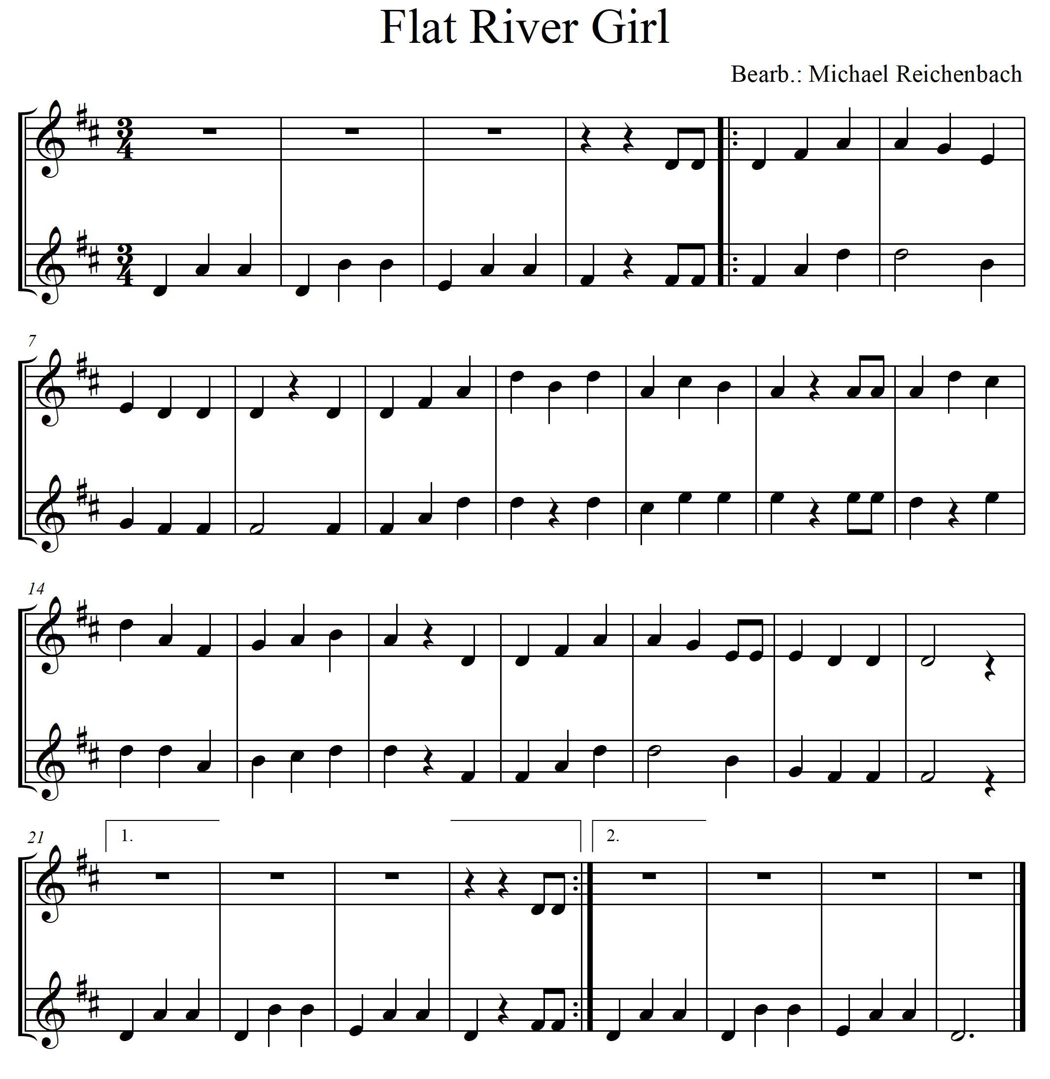 Mandoline lernen - Flat River Girl