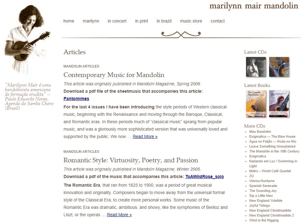 Kostenlose Noten von Marilynn Mair