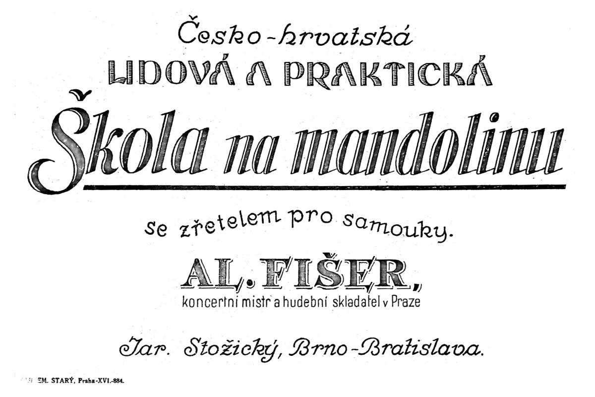 Skola na mandolinu Al. Fiser