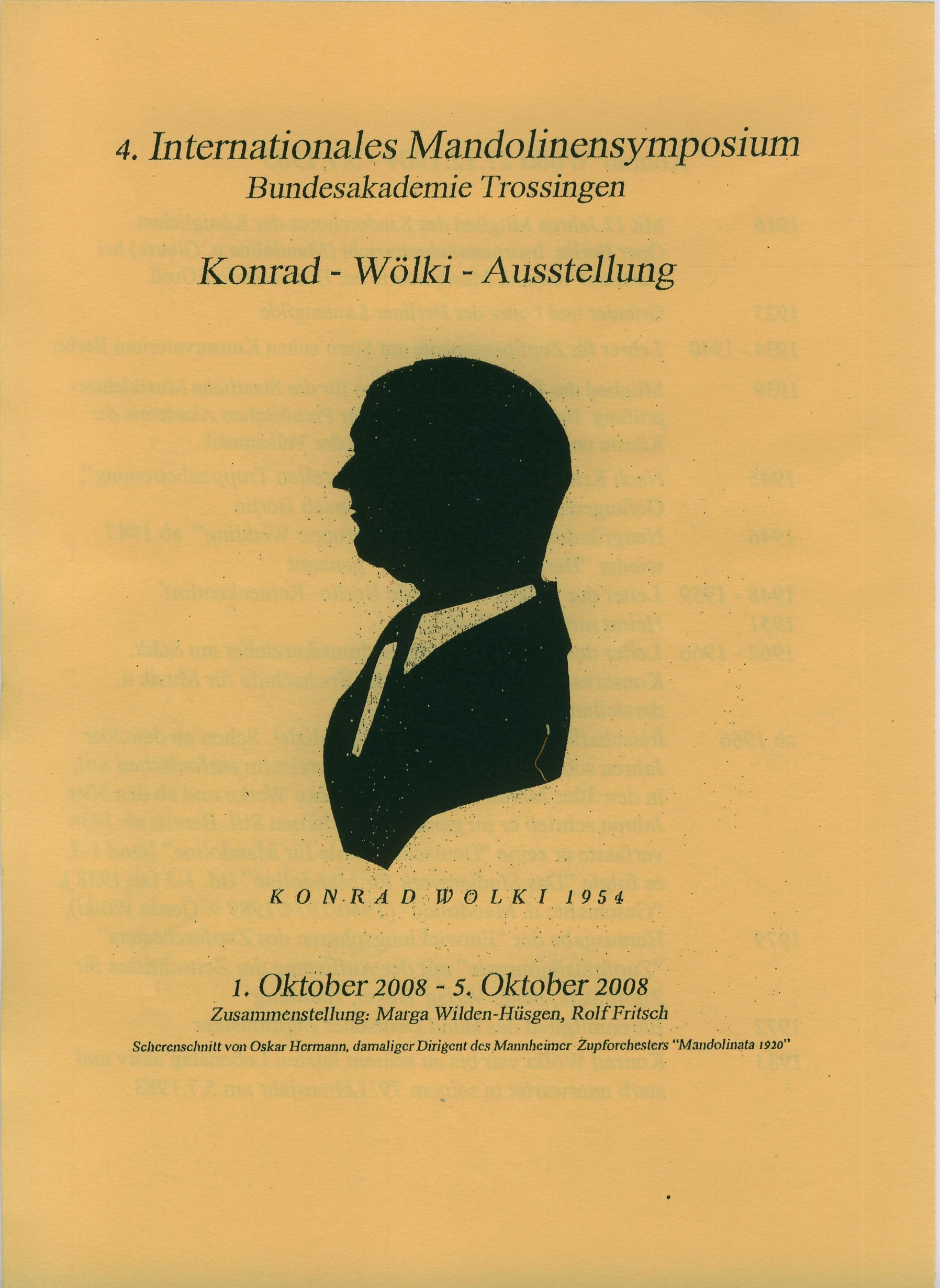 Konrad Woelki Ausstellung - Mandolinensymposium 2008